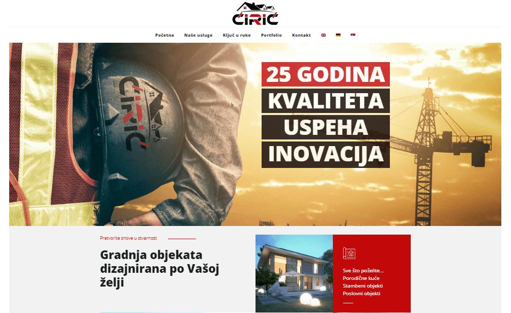 Ćirić gradnja, Beograd