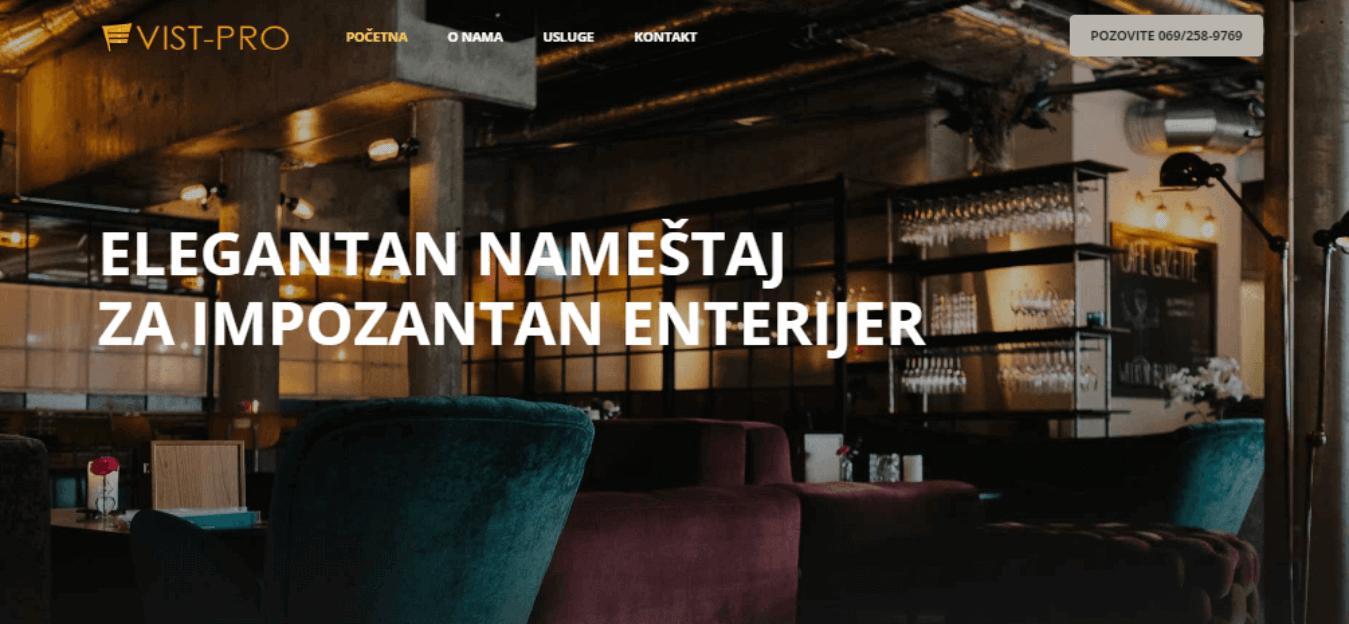 Vist pro, Beograd - enterijer i izrada nameštaja